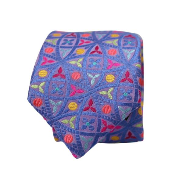 Van Buck Mixed Shape tie blue 2
