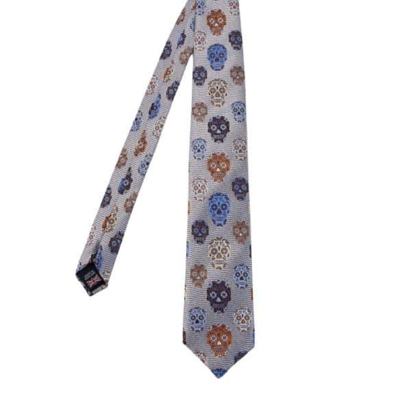 Van Buck Skulls Tie blue Main