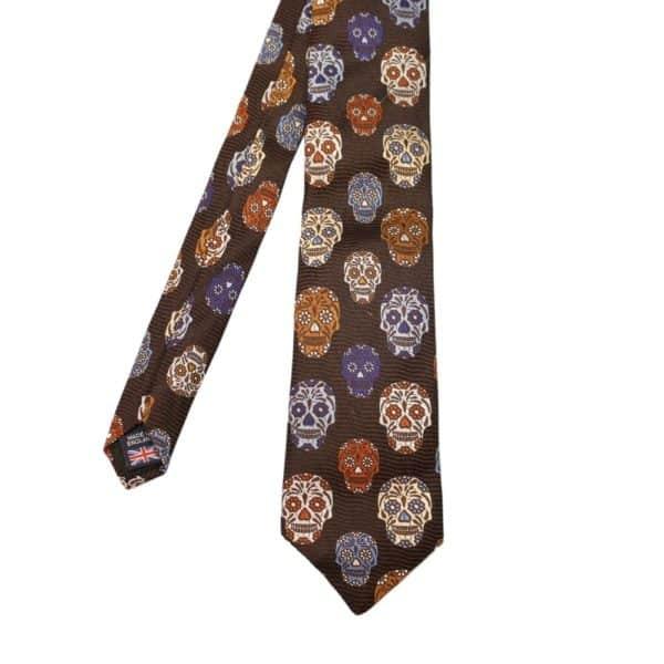 Van Buck Tie Skull Brown 2