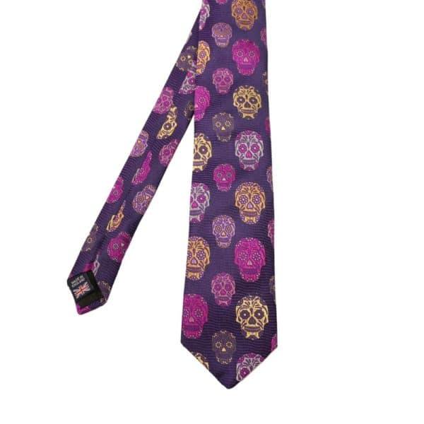 Van Buck Tie Skull Purple 1