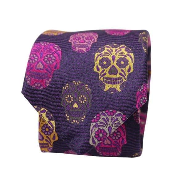 Van Buck Tie Skull Purple 2