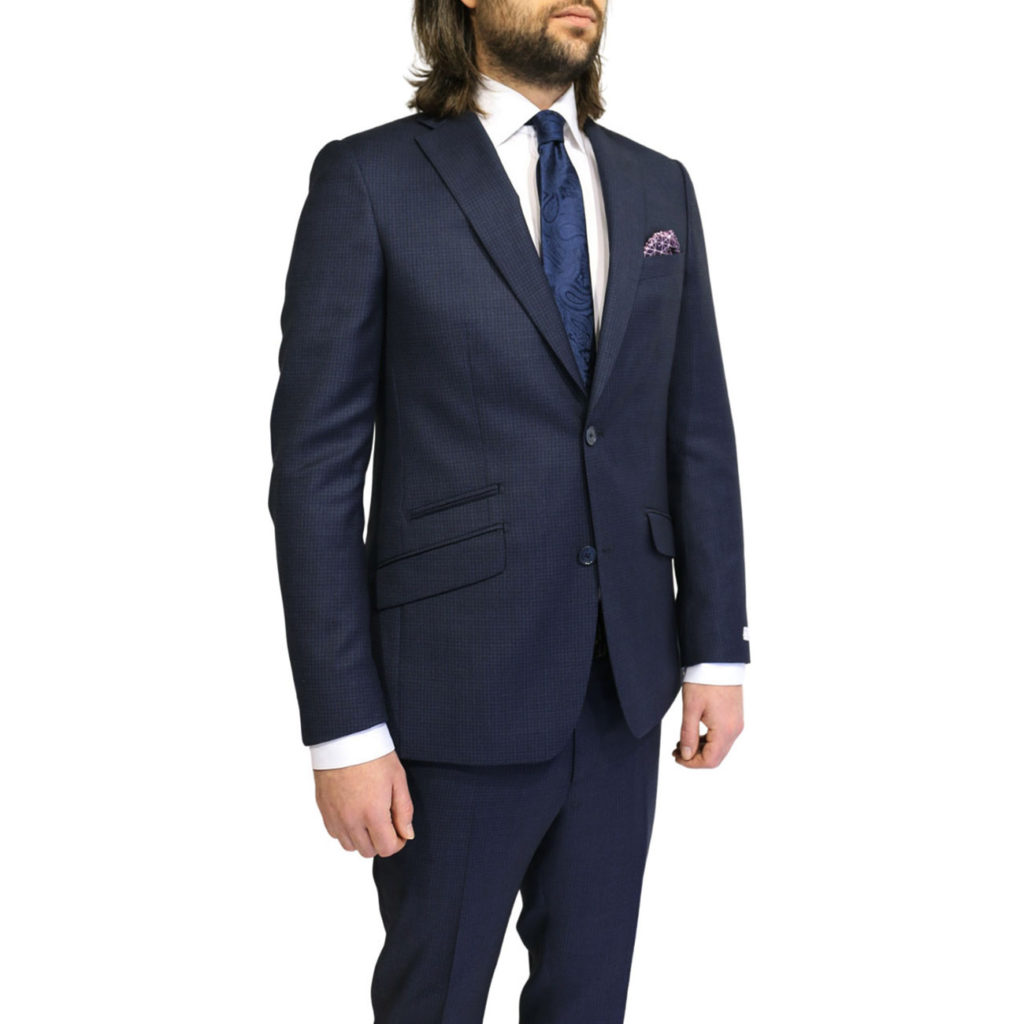 WITHOUT PREJUDICE SUIT RANDOLPH CHECK NAVY