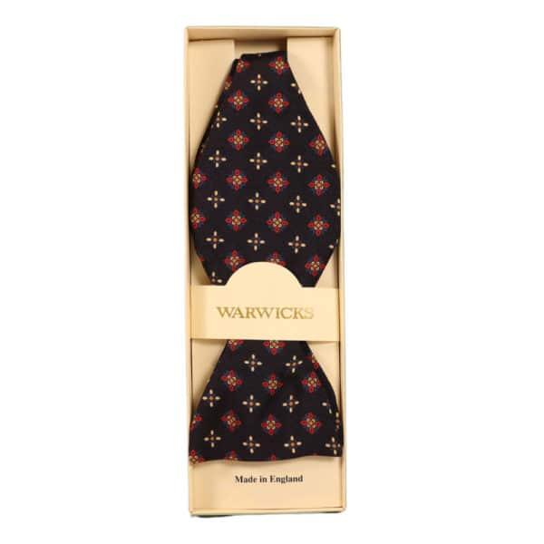 Warwicks cravat black and red
