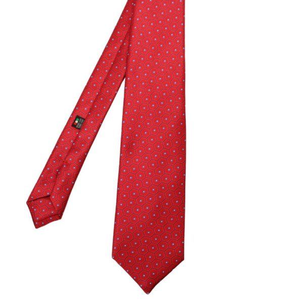 Warwicks honeycomb flower tie red 1
