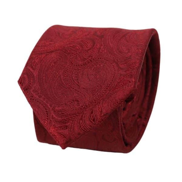 Warwicks paisley tie red