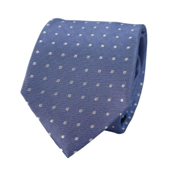Warwicks polka dot tie blue