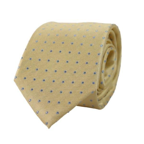 Warwicks polka dot tie yellow