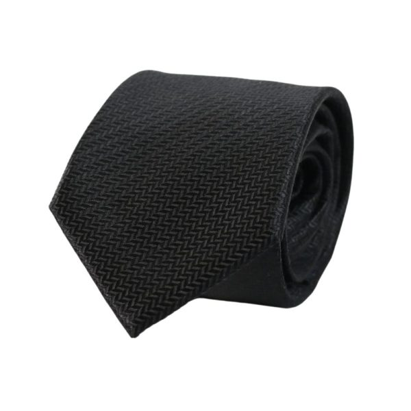 Warwicks solid texture tie black