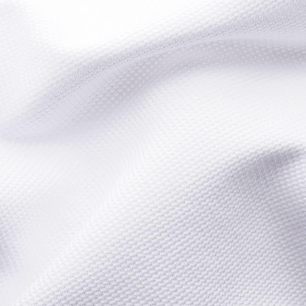 White Pique Black Tie Shirt pique fabric