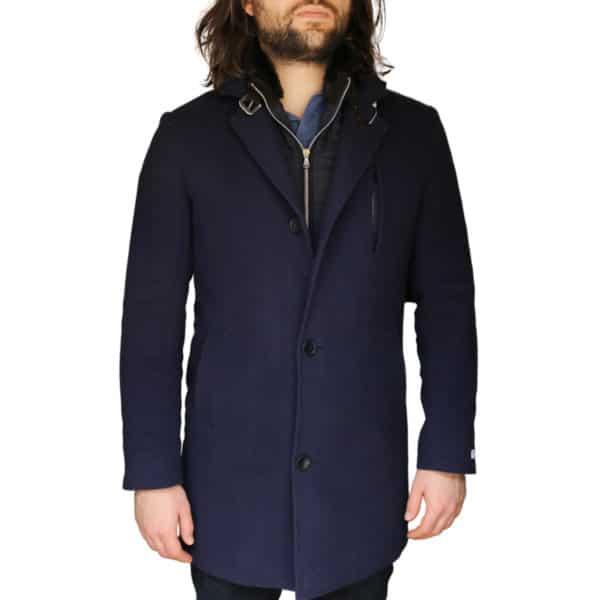 Without Prejudice Navy overcoat 2