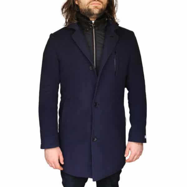 Without Prejudice Navy overcoat