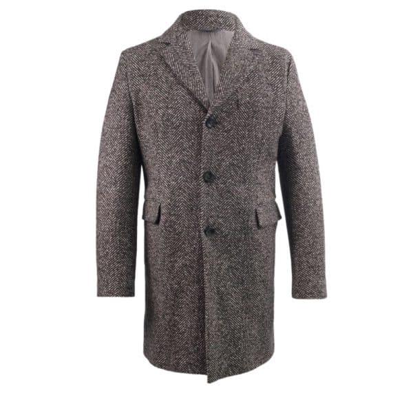 circolo herringbone overcoat