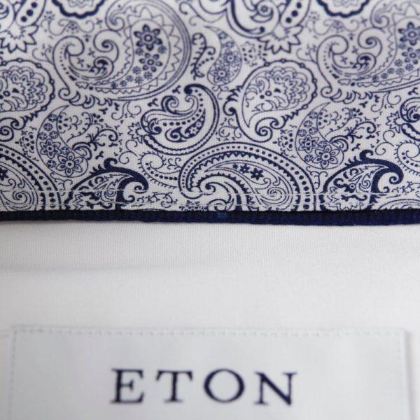 eton contemporary fit plain white contrasting paisley inner p2657 2549 image