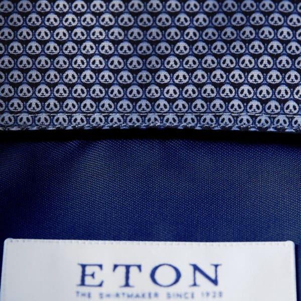 eton micro panda insert shirt navy