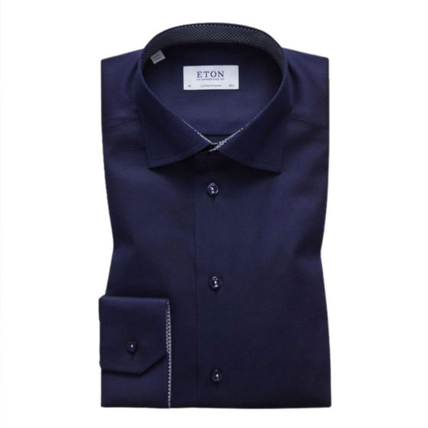 eton micro panda insert shirt navy CONTEMPORARY