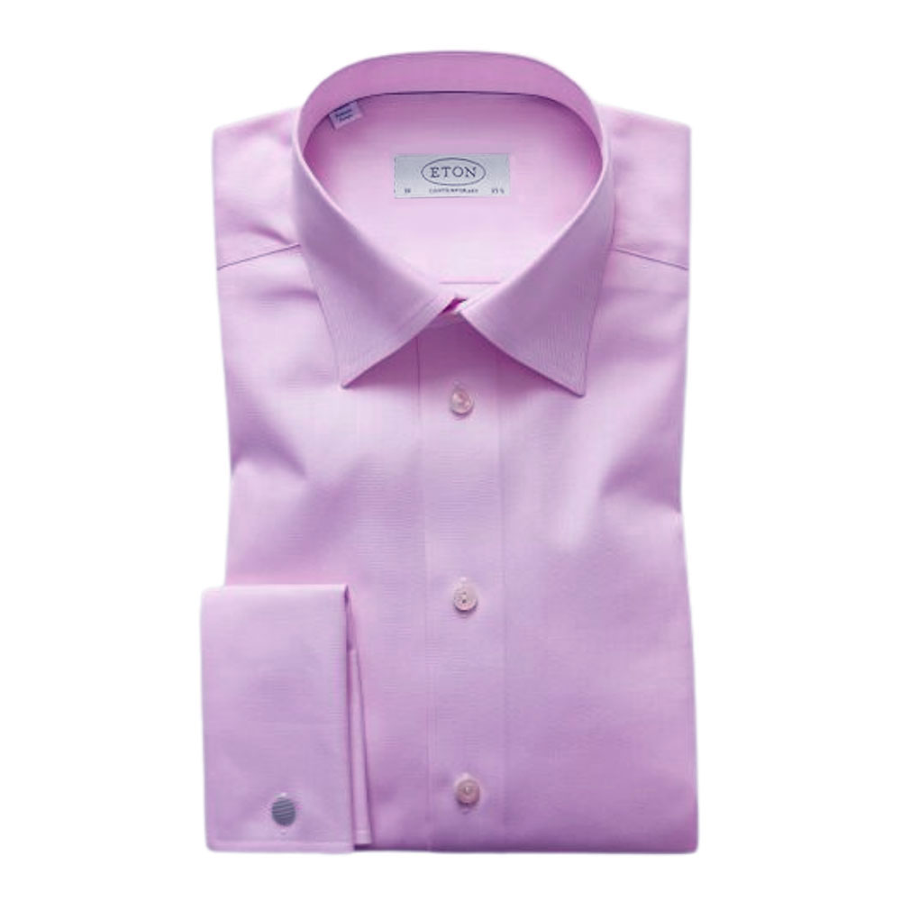 eton shirt herringbone lilac main