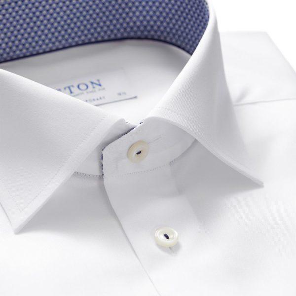 eton shirts contemporary fit white eton shirt with micro panda trim p27430 135774 image
