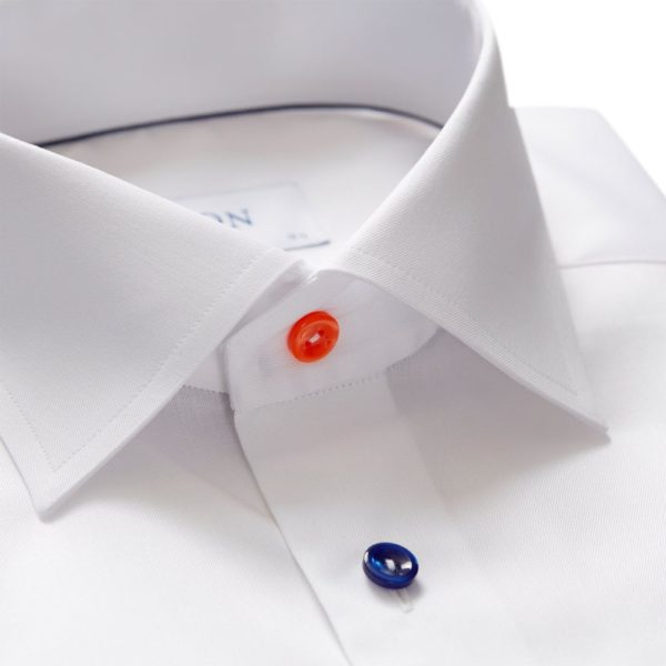 eton shirts contemporary fit white eton shirt with multicoloured buttons p27878 142427 image