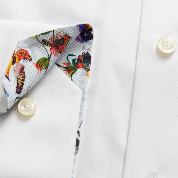eton slim fit contrast collar shirt white p2667 2591 image