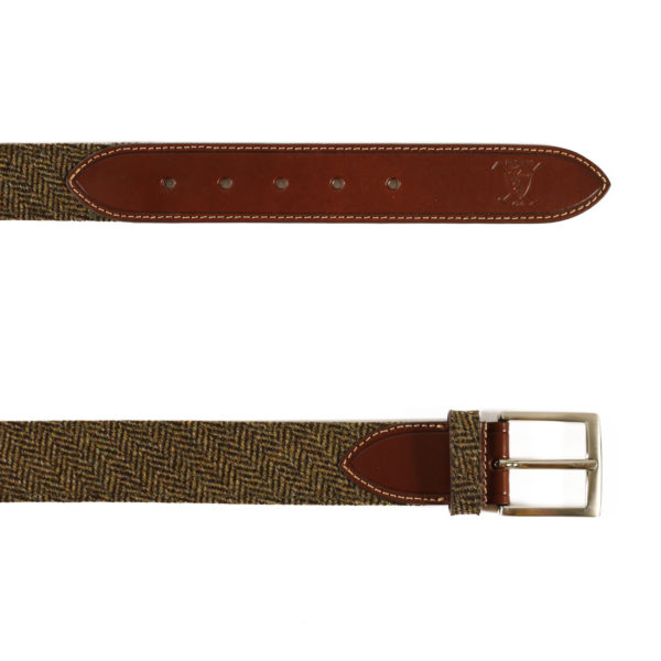 fabric and leather belt