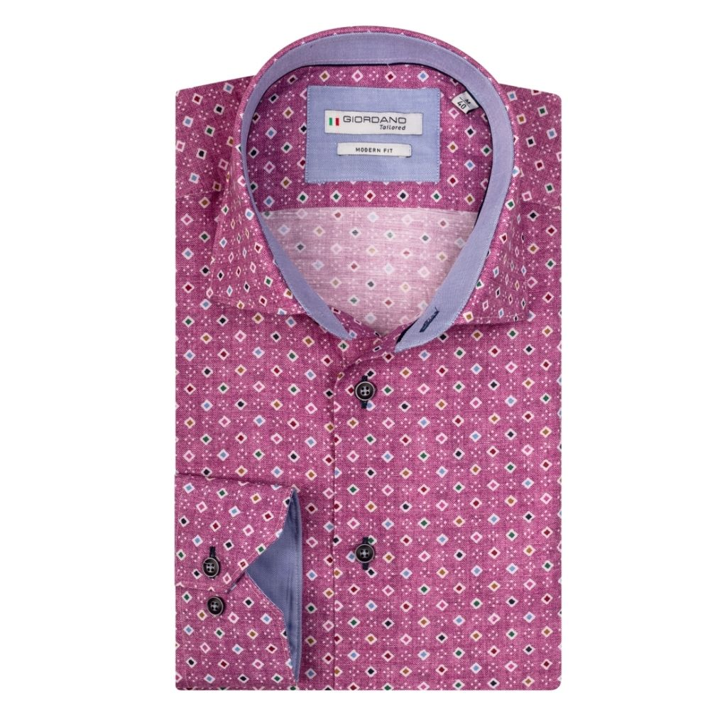 giordano pink pattern shirt 1