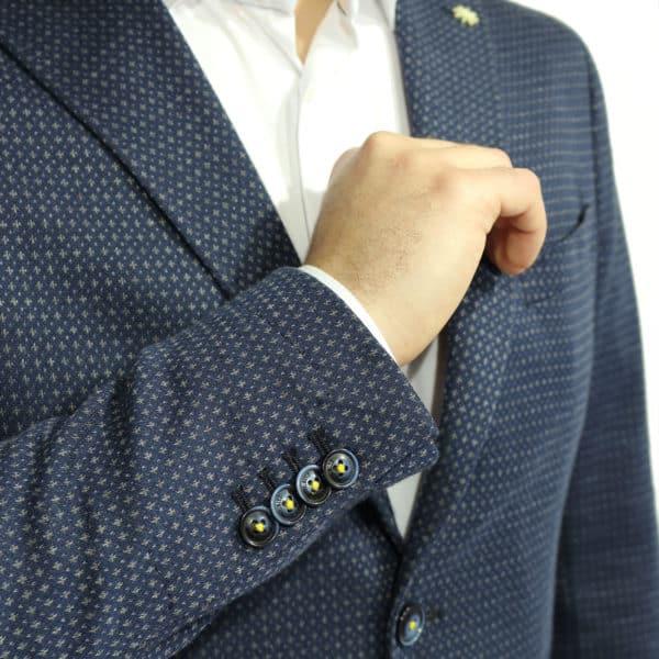 manuel ritz navy blazer cuff buttons