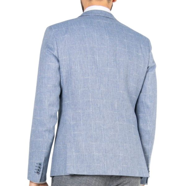 roy robson light blue windowpane back