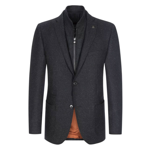 roy robson stylish blazer with a removable yoke anthracite