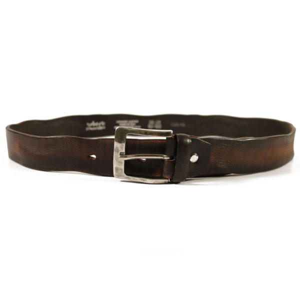 weathered leather brown belt