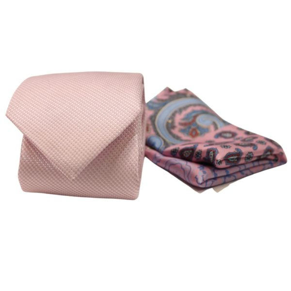 Amanda Christensen Tie Pocket Square Box Set Pink 2