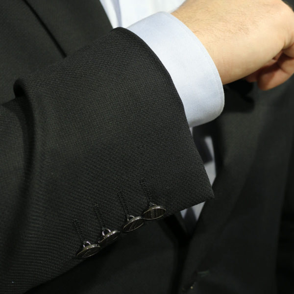Armani 2 black blazer jacket button detail