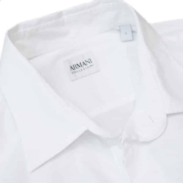 Armani Collezioni 3 white shirt collar