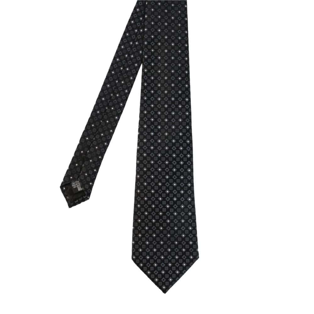 Armani Collezioni Tie Diamonds Squares Black 1