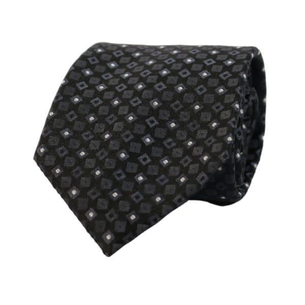 Armani Collezioni Tie Diamonds Squares Black 2
