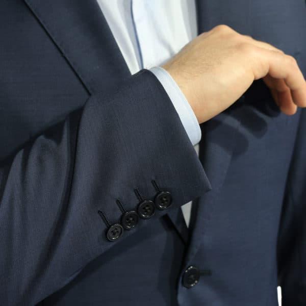 Armani Collezioni blazer jacket navy button detail