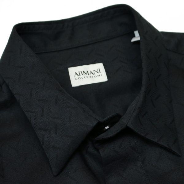 Armani Collezioni shirt black collar 1
