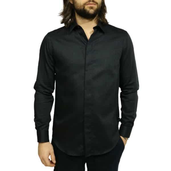 Armani Collezioni shirt black front