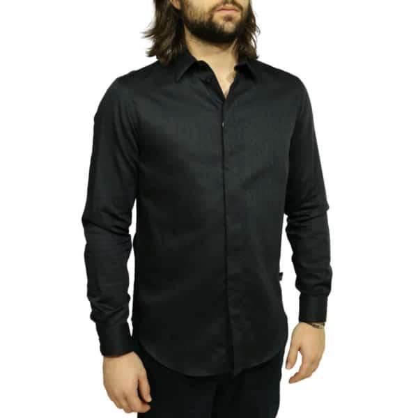 Armani Collezioni shirt black side