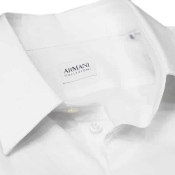 Armani Collezioni white shirt collar1