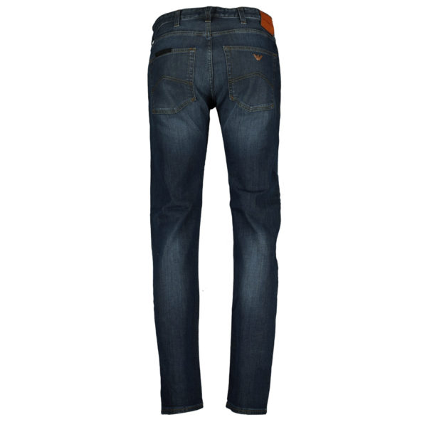 Armani Jeans J45 slim fit navy back