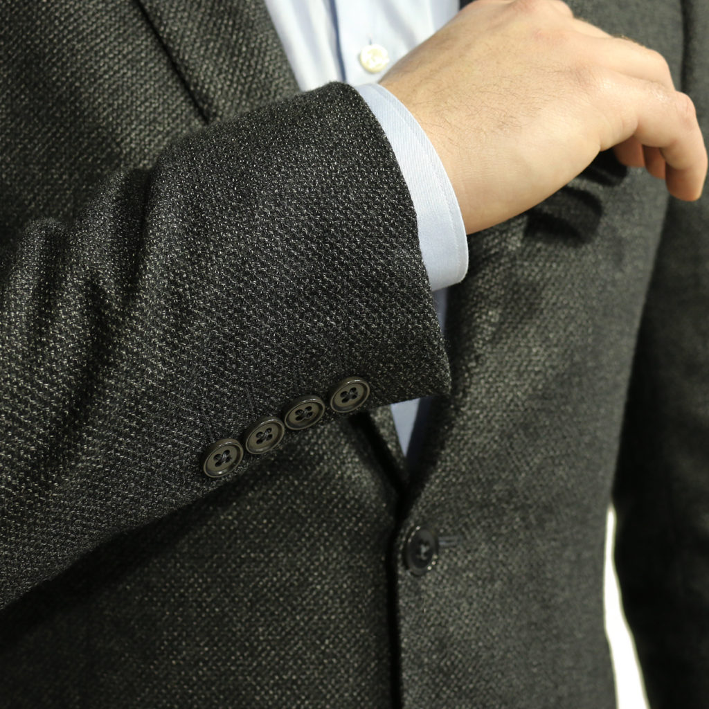 Armani collezioni blazer jacket textured charcoal 1
