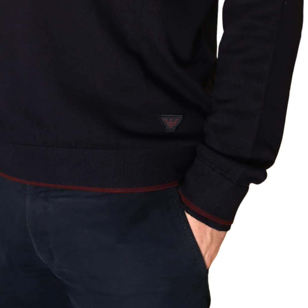 Armani jeans half zip jumper navy logo
