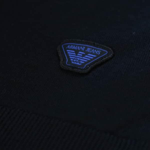 Armani jeans v neck jumper logo