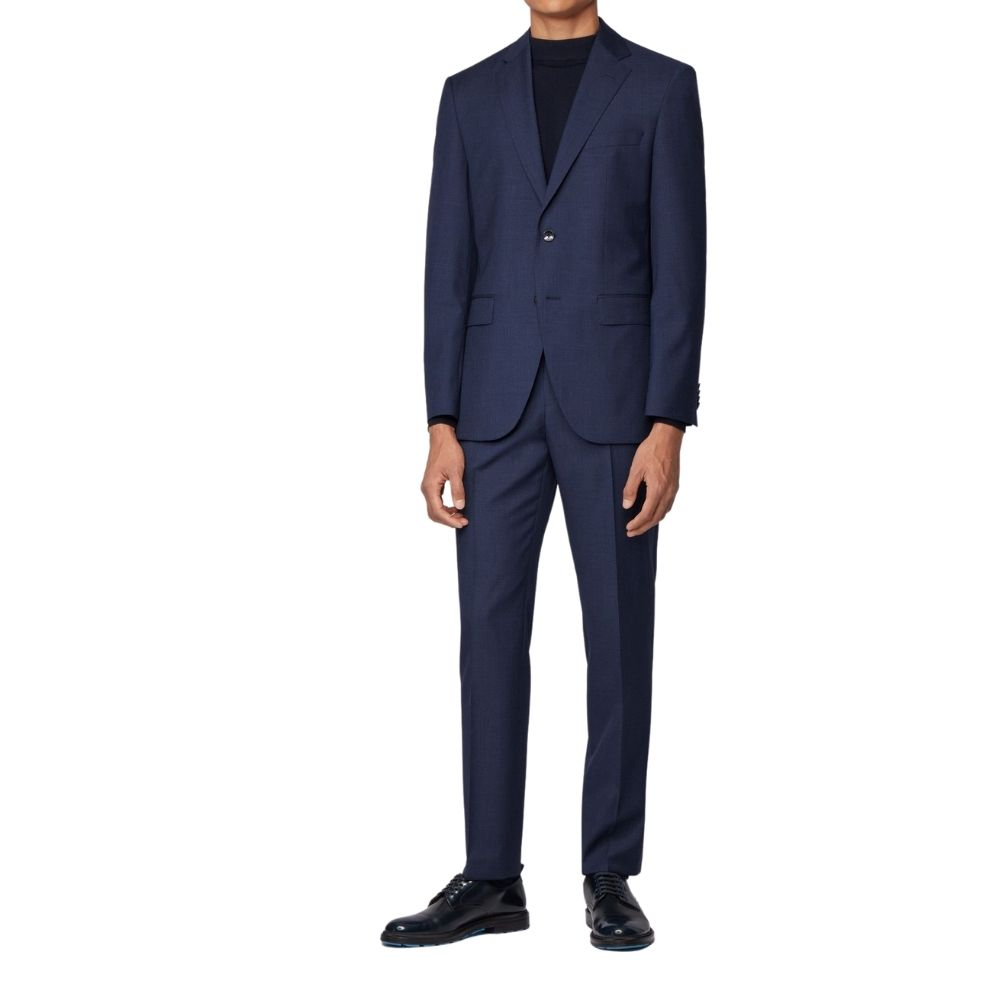 BOSS BLUE SUIT MICRO CHECK 1