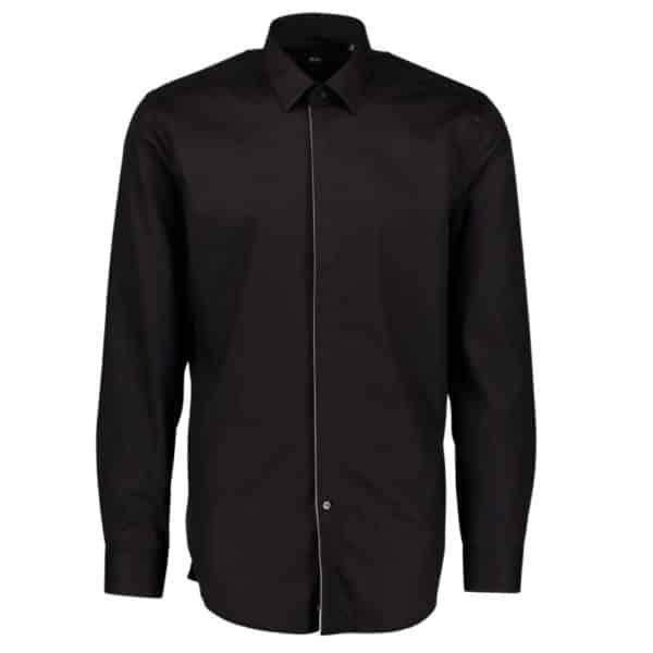 BOSS BOSS JIVAN Dress SHIRT IN BLACK Front