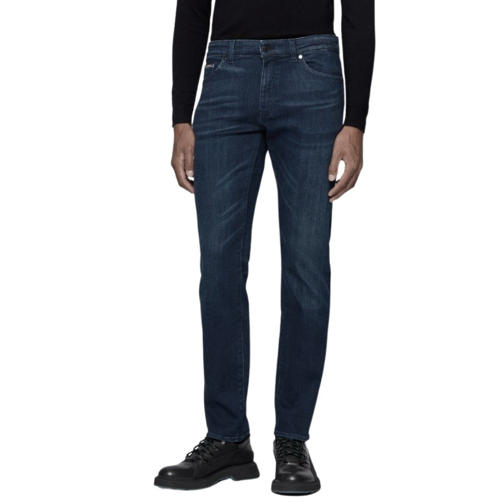 BOSS CASHMERE TAILORED JEAN MID WASH
