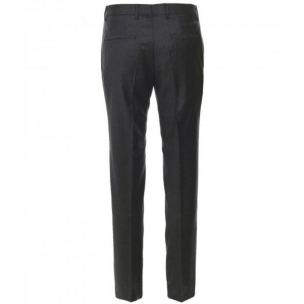 BOSS CHARCOAL FINE FLANNEL WOOL TROUSER 1