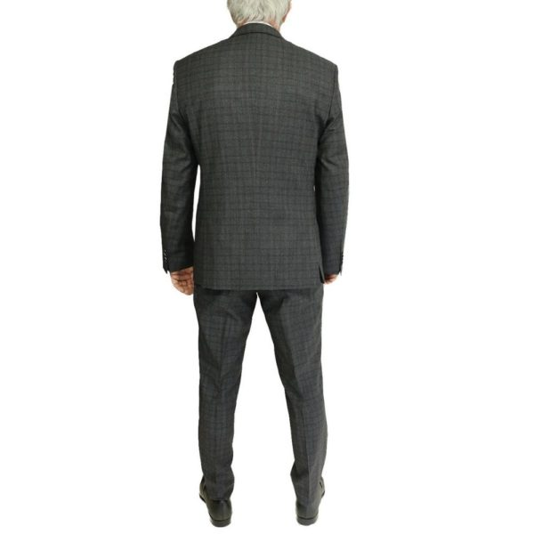 BOSS GREY RED CHECK SUIT 1
