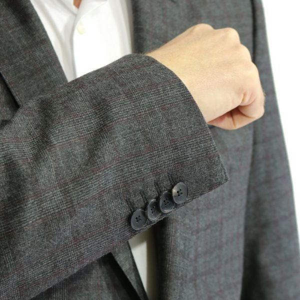 BOSS GREY RED CHECK SUIT 3