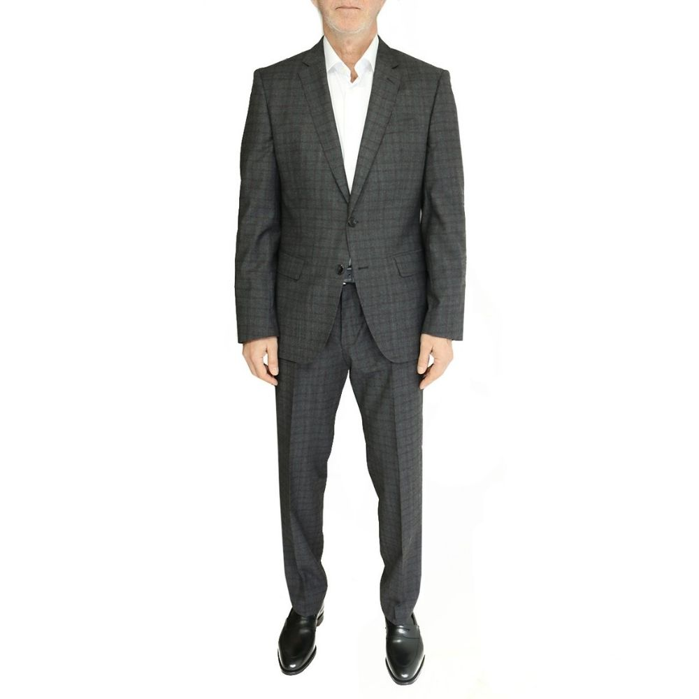 BOSS GREY RED CHECK SUIT